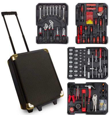Julido Werkzeugkoffer mit Ratschenfunktion 187 Teile für 49,95€