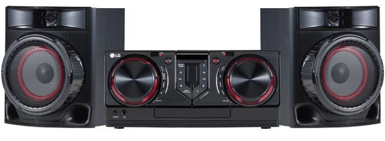 LG CJ44 Kompaktanlage (CD, USB, Schwarz) für 99€ (statt 150€)
