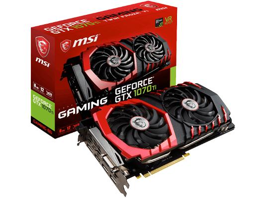 MSI GeForce GTX 1070 Ti (V330 237R) mit 8 GB für 399€ (statt 488€)