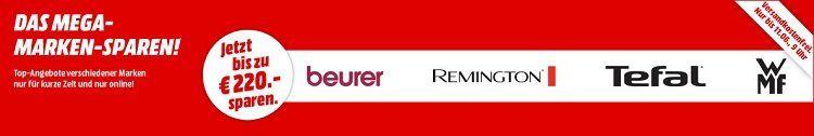 Media Markt Mega Marken Sparen: günstige Artikel von WMF, Tefal, Remington und beurer