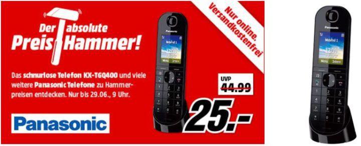 MM Preishammer: Panasonic Schnurlos Telefone mit IP Unterstützung ab 20€