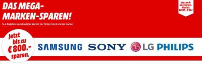 Media Markt Marken Sparen: günstige Artikel von SAMSUNG, Sony, LG und Philips