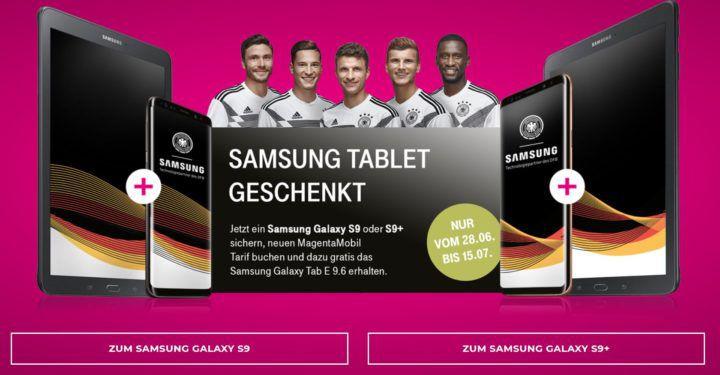 Samsung Galaxy S9 o. S9 Plus + Galaxy Tab E 9.6 + Telekom Magenta AllNet Flats ab 39,95€