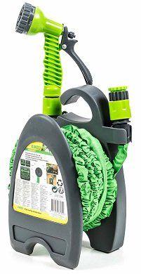 Flexibler Gartenschlauch inkl. Halter und Multifunktionsbrause mit 7 Funktion für 12,90€ (statt 15€)