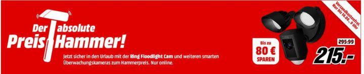 Media Markt Sicherheitskameras Sale: z.B. Ring Video Doorbell 2 und Türgong für 199€