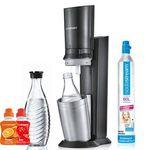 SodaStream Crystal 2.0 Wassersprudler Set mit 2 Glaskaraffen + 2 x Sirup für 89€ (statt 123€)