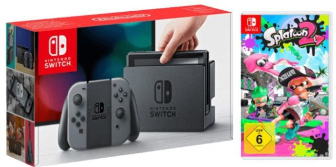 NINTENDO Switch Grau Konsole + Splatoon 2 ab 333€ (statt 391€)