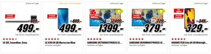 Media Markt Mega Marken Sparen: günstige Artikel von LG, Samsung, Huawei und Grundig