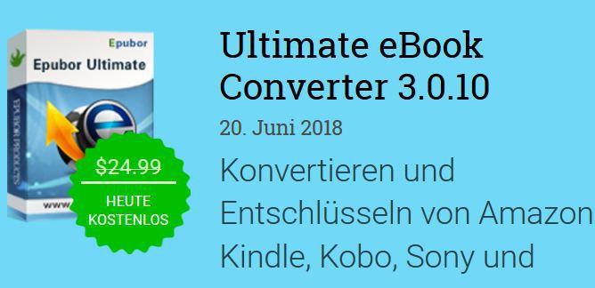 Ultimate eBook Converter 3 (Jahreslizenz, Windows) kostenlos