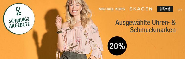 Galeria Kaufhof Sonntagsangebote   z.B. 20% auf ausgewählte Schmuck  und Uhrenmarken