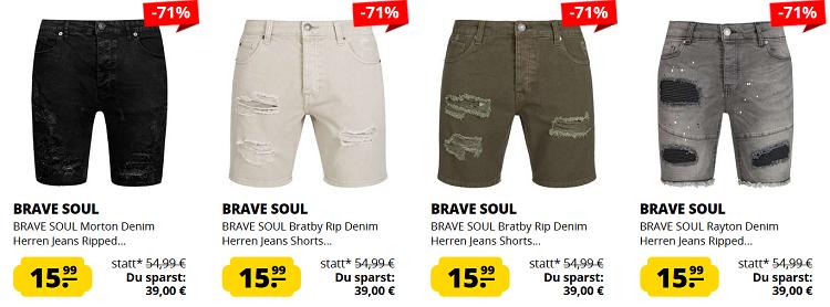 BRAVE SOUL Jeans Sale   verschiedene Modelle für 15,99€ + VSK