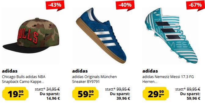 adidas Sale bei SportSpar   Artikel schon ab 1,99€