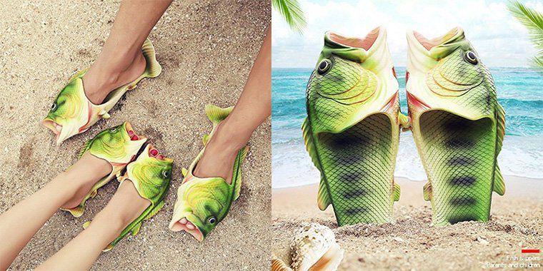 Fisch Schlappen für den Strand z.B. für 8,32€