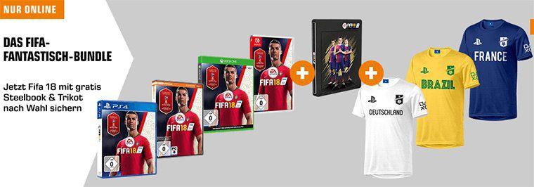 FIFA 18 + 3D Steelbook + PlayStation FC Trikot für 29€ (statt ~50€)