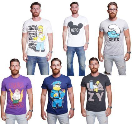 Course Herren T Shirts:  Simpons, Family Guy, Mickey Mouse, Schlümpfe bis 3XL ab 9,90€