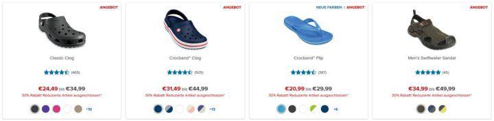 Crocs Mitternachts Sale mit 30% Rabatt auf (fast) Alles + VSK