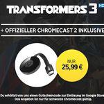 Google Chromecast 2 + Transformers: Die Rache HD Stream für nur 25,99€ (statt 43€)