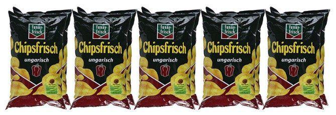 10 Tüten funny frisch Chips Ungarisch für 8,99€   Prime