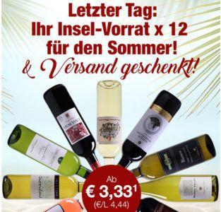 Weinvorteil Sommer Sale mit Weinen ab 3,33€ pro Flasche
