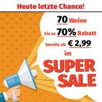 70 Weine ab 2,99€ pro Flasche (6 Flaschen MBW)