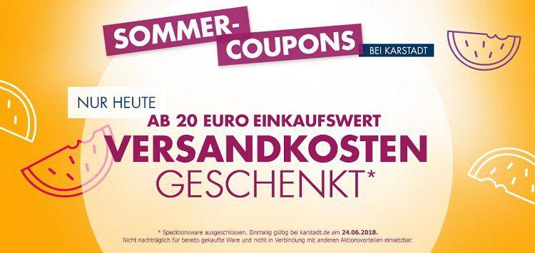 Karstadt: Versandkosten ab 20€ MBW geschenkt*