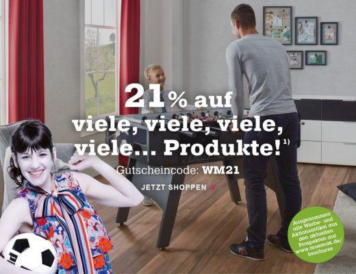 Info: Mömax WM Rabatt mit 21 % auf fast alles bis Mitternacht