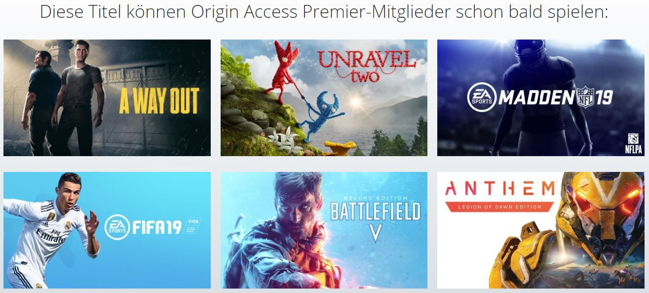 NEWS: Origin Access Premier von Electronic Arts angekündigt