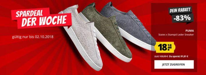 Puma States x Stampd Unisex Leder Sneaker für 22,13€ (statt 36€)