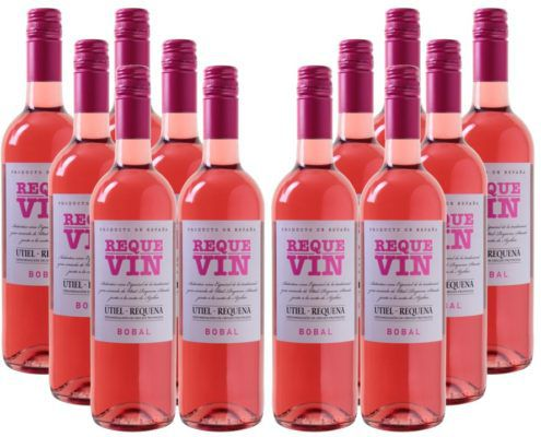 Requevin Bodegas Coviñas   12 Flaschen trockener Rose Wein für 39,96€