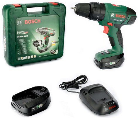 Bosch PSB 14,4 LI 2 Schlagbohrmaschine mit 2 Akkus & Ladegerät für 119,95€ (statt 158€)
