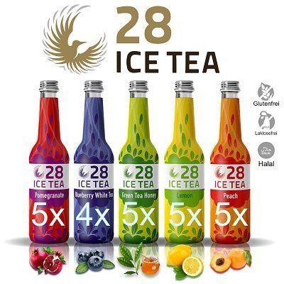 24 x  28 Ice Tea (je 0,33 l)   Probiermix aus fünf Sorten (MHD: 07.09.) für 23,90€