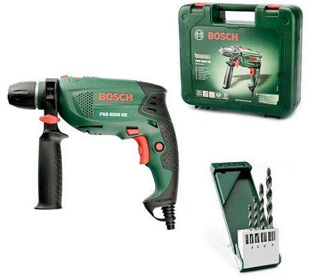 Bosch PSB 6500 RE Schlagbohrmaschine + 4 tlg. Universalbohrer für 49,95€