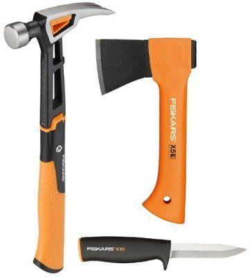 Fiskars Werkzeugset bestehend aus Universalhammer, Axt X5 und Messer K40 für 49,99€ (statt 74€)