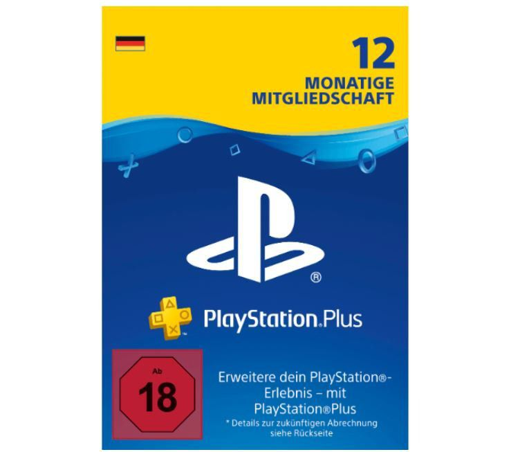 PlayStation Plus (12 Monate) für 42,74€ (statt 50€)