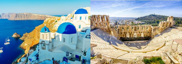 7 ÜN Inselhopping Athen, Santorini & Mykonos inkl. Frühstück, Transfers, Fährtickets, Flüge ab 689€ p.P.