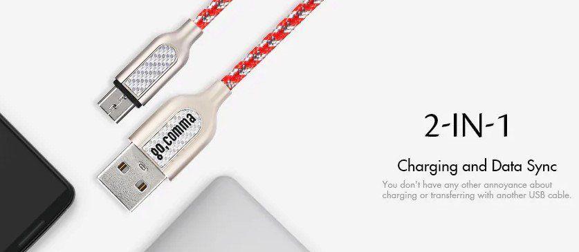 Gocomma 1m Micro USB Kabel (2.4A) für 0,86€