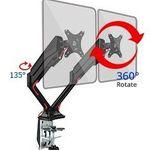 Fleximounts F6D – Monitorhalterung mit Standfuß & 2 Armen für 2 Monitore für 55,99€ (statt 80€)