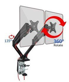 Fleximounts F6D   Monitorhalterung mit Standfuß & 2 Armen für 2 Monitore für 55,99€ (statt 80€)