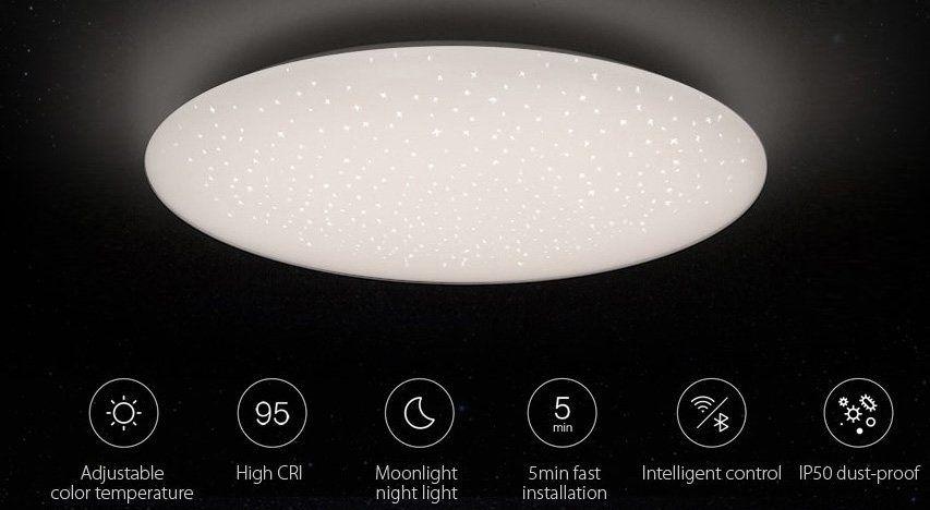 Xiaomi Jiaoyue 480: Dimmbare LED Deckenleuchte mit Alexa & Google Unterstützung für 87,90€