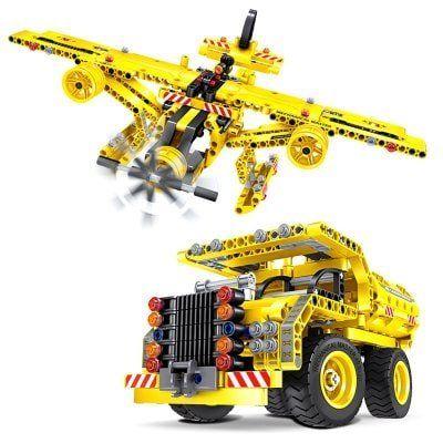 DIY 2 in1 LKW und Flugzeug zum Selbstaufbau für 14,27€