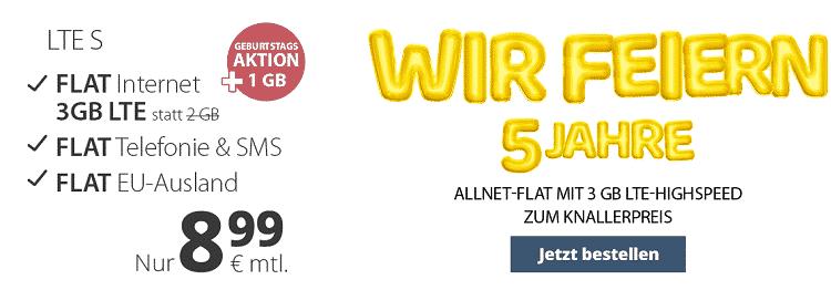 TOP! PremiumSIM Allnet Flat im o2 Netz mit bis zu 9GB LTE ab 8,99€   Datenautomatik deaktivierbar!