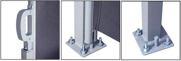 Senkrechte Seitenmarkise   z.B. 180x300cm inkl. Montagematerial für 44,09€ (statt 64€)