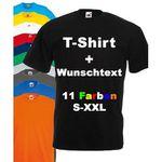 T-Shirt mit eigenem Wunschtext für 4,95€