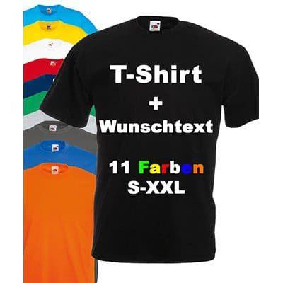 T Shirt mit eigenem Wunschtext für 4,95€