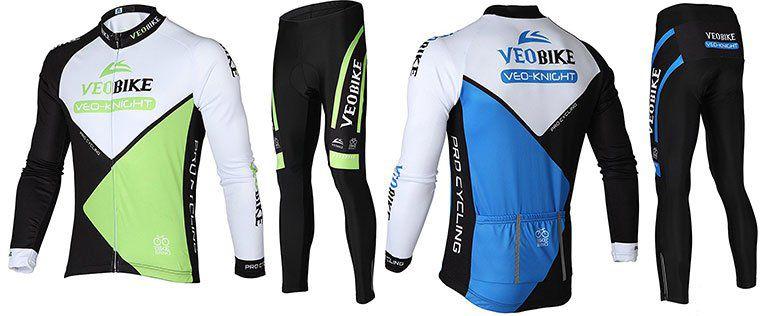 Asvert Fahrradbekleidungs Set (Langarmtrikot & Hose) für 9,99€ (statt 20€)