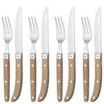 """WMF """"Ranch"""" Steakbesteck-Set mit Holzgriffen 12-teilig für 99,95€ (statt 132€)"""
