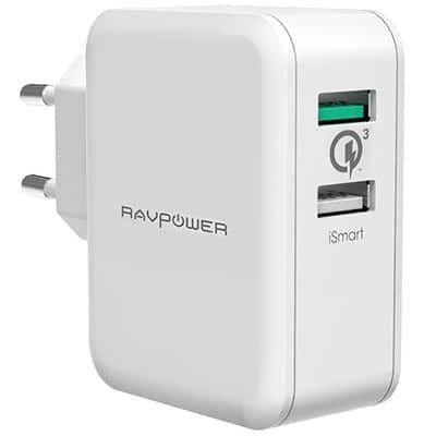 RAVPower RP PC006   USB Ladegerät mit QC3.0 für 11,99€ (statt 15€)