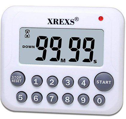 XREXS DC 12   Küchen Timer mit LCD Display für 5,77€ (statt 12€)