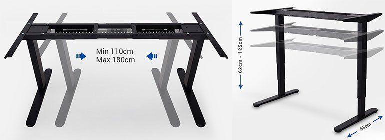 FLEXISPOT E5B   elektrisch höhenverstellbares Tischgestell für 300,99€ (statt 430€)