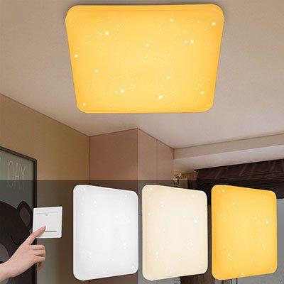 VINGO® 60W LED Deckenleuchte mit Sternenhimmel & Farbwechsel für 30 ...